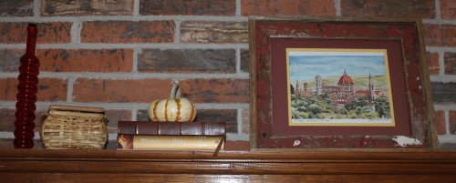 mantel close up